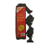 Crepe guirlande 24 m zwart