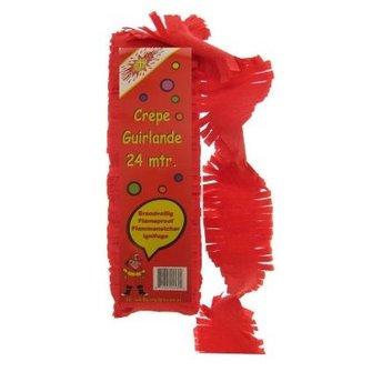 Crepe guirlande 24 m rood