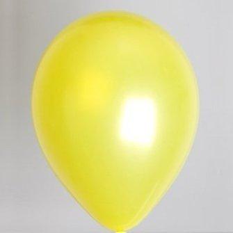 Ballon metallic geel 100 stuks