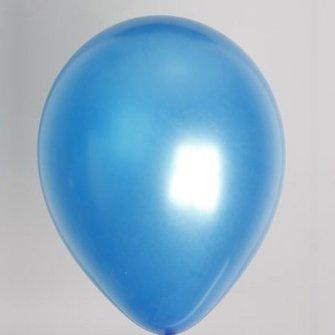 Ballon metallic blauw 100 stuks