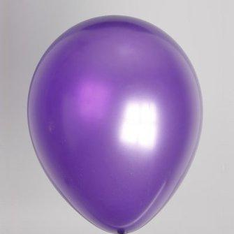 Ballon metallic paars 100 stuks