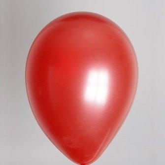 Ballon rood metallic 25 stuks