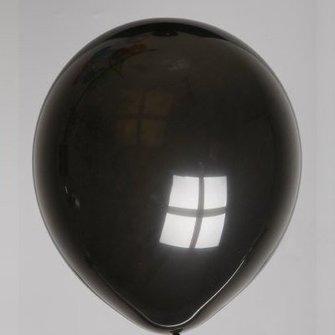 Ballon zwart 25 stuks