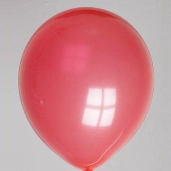 Ballon pastel rood 25 stuks