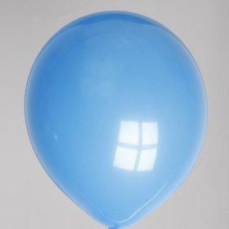Ballon pastel donkerblauw 25 stuks