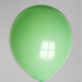 Ballon pastel donkergroen 100 stuks