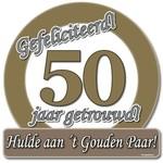 Huldeschild 50 jaar getrouwd