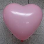 Ballon hart rose 10 stuks