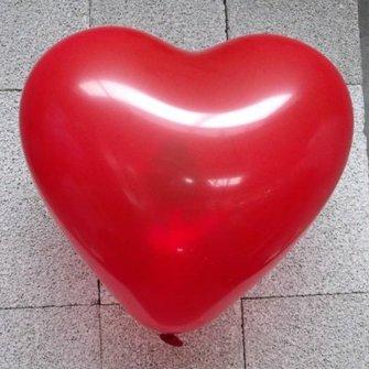 Ballon hart rood 10 inch