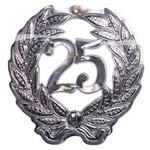 Huldebord 25 zilver