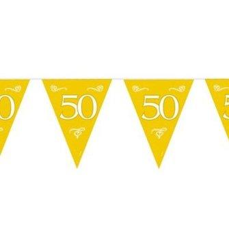 Vlaglijn goud 50 jaar getrouwd