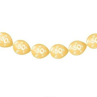Doorknoopballon 50 goud