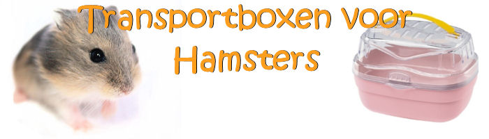 Hamster transportbox in de hamster webshop