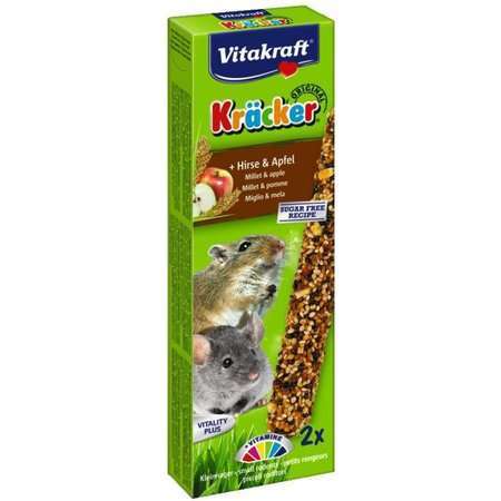 Vitakraft Mouse, Gerbil, Dwarf Hamster Kracker Millet & Apple