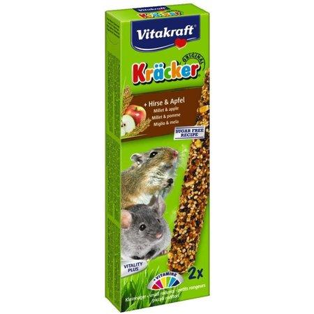 Vitakraft Muis, Gerbil, Dwerghamster Kracker Gierst & Appel