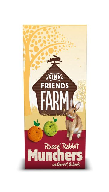 Supreme Russel Rabbit Munchers Carrot & Leek 120 grams