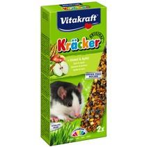 Ratte buchstabiert Kracker & Apfel