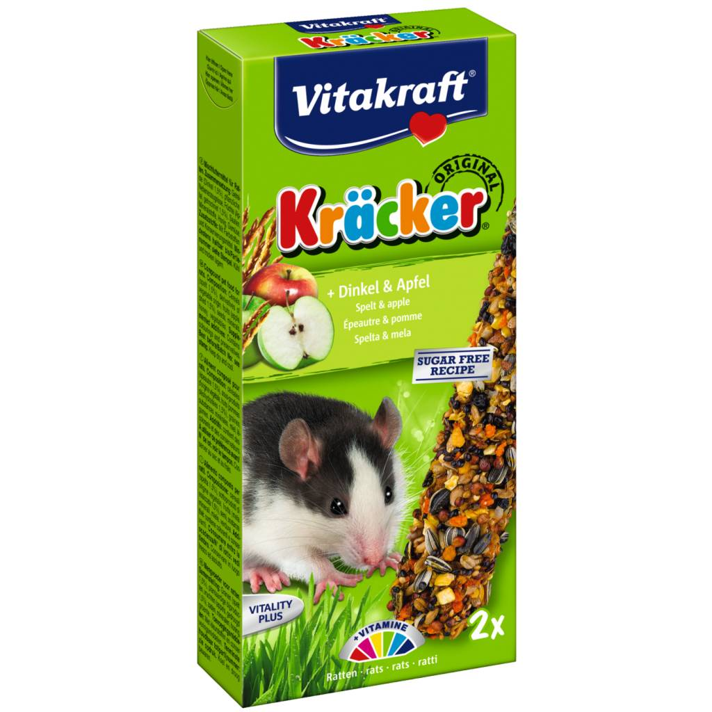 Vitakraft Ratte buchstabiert Kracker & Apfel