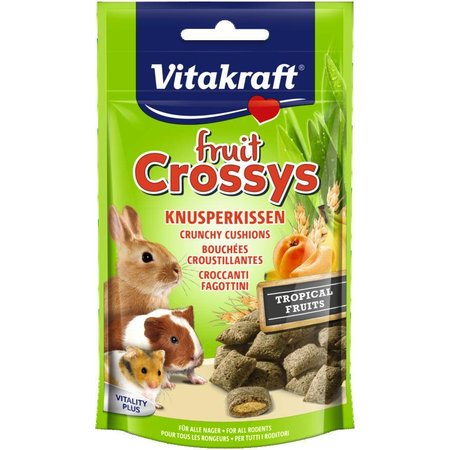 Vitakraft Fruit Crossys Tropical Banaan Abrikoos knaagdier