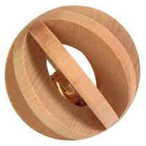 Houten Lamellenbal met belletje 6 cm