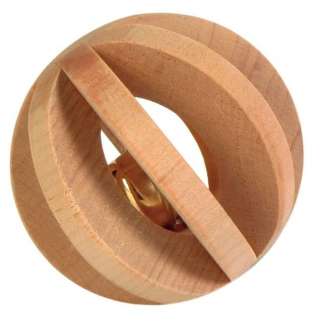 Trixie Wooden slat ball with bell 6 cm