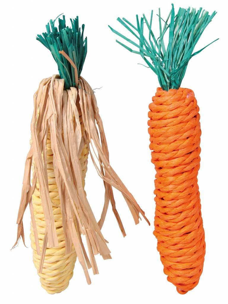 Trixie Mais & Karotte Stroh Spielzeug 15cm