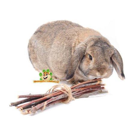 konijn en knaagdier hazelnoot takjes