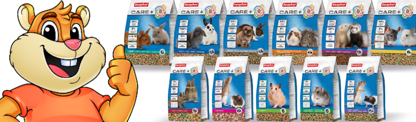 Beaphar Care + rodent food, mouse, hamster, gerbil, rat, guinea pig, rabbit, chinchilla