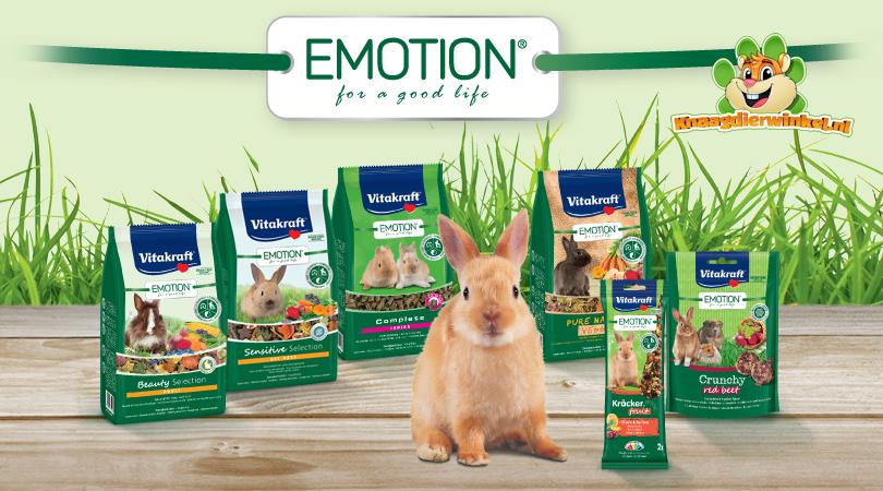 Vitakraft emotion knaagdier voer en voeding voor muis, hamster, gerbil, rat, cavia, konijn en chinchilla