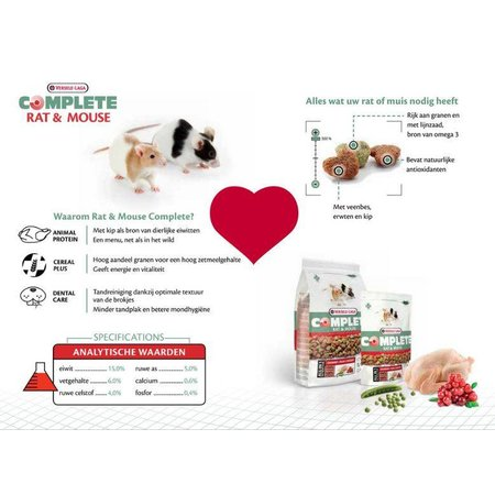 Versele-Laga Complete Rat & Mouse 500 grams