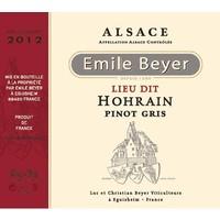 "Domaine Emile Beyer - Pinot Gris ""Lieu-dit Hohrain"" - 2013"