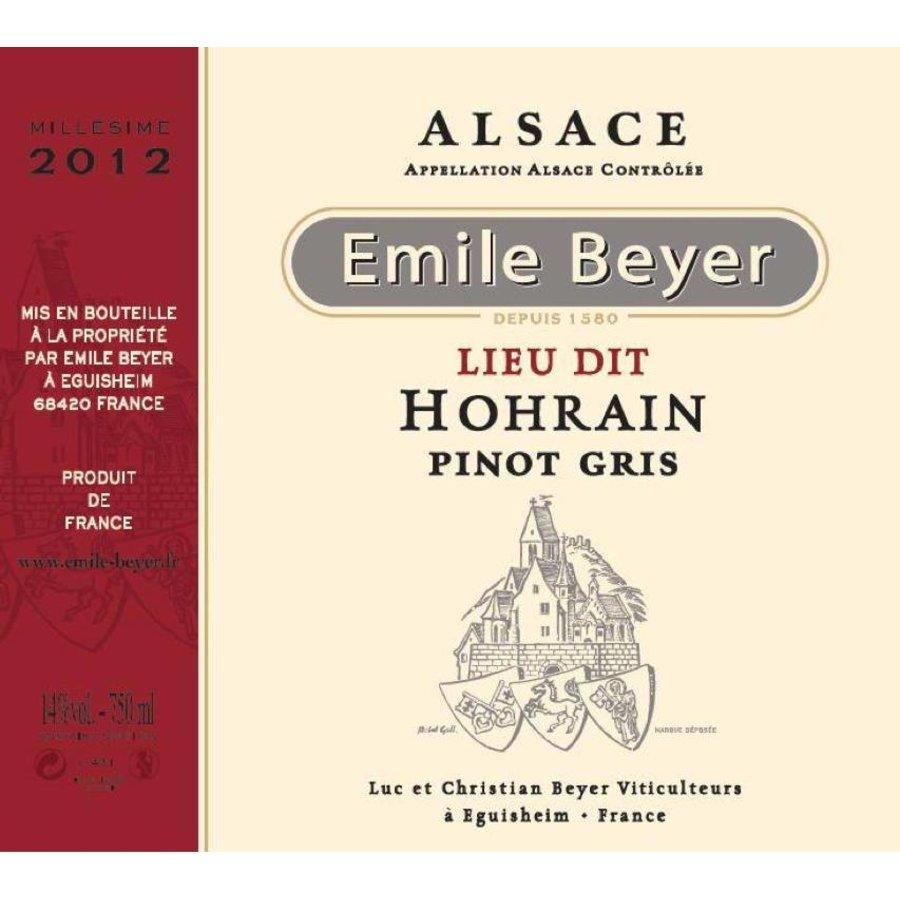 "2013 - Pinot Gris ""Lieu Dit Hohrain"" - Domaine Emile Beyer"