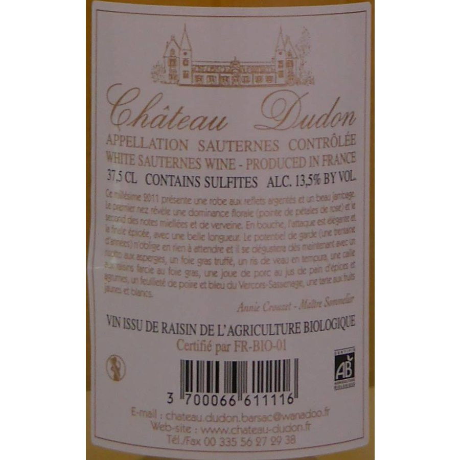2011 - Chateau Dudon - Chateau Dudon
