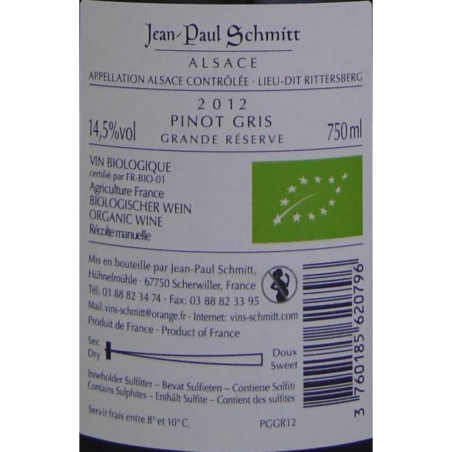 2012 - Pinot Gris Rittersberg Grande Réserve - Domaine Jean-Paul Schmitt