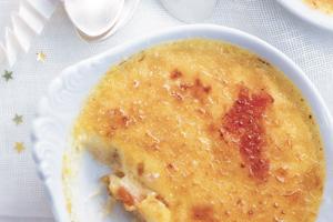 Crème brûlée van zalm
