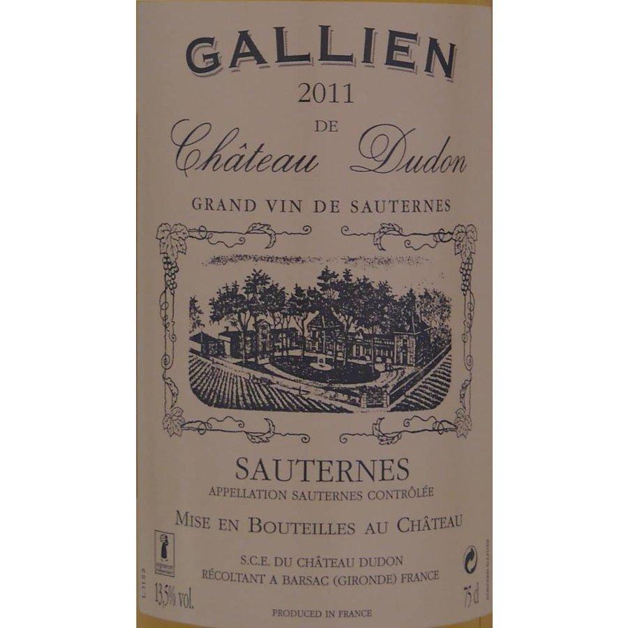 2014 - Sauternes - Gallien de Château Dudon