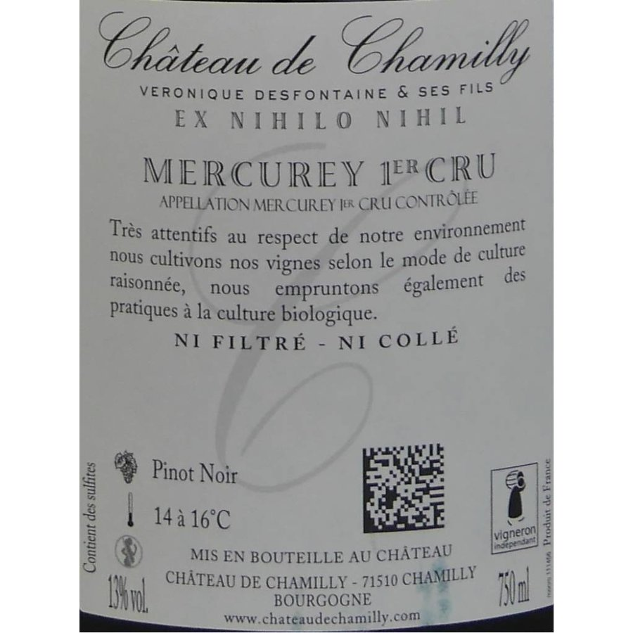 """Château de Chamilly - Mercurey 1er Cru """"Les Puillets"""" - 2014"""