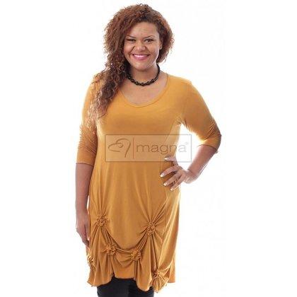 Magna Fashion SALE Tunika GESCHLAGEN 3Q OCHRE