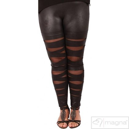 Magna Fashion Leggings F5005 LEDER LOOK