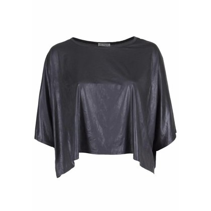 Magna Fashion Poncho M4004 LEATHERLOOK
