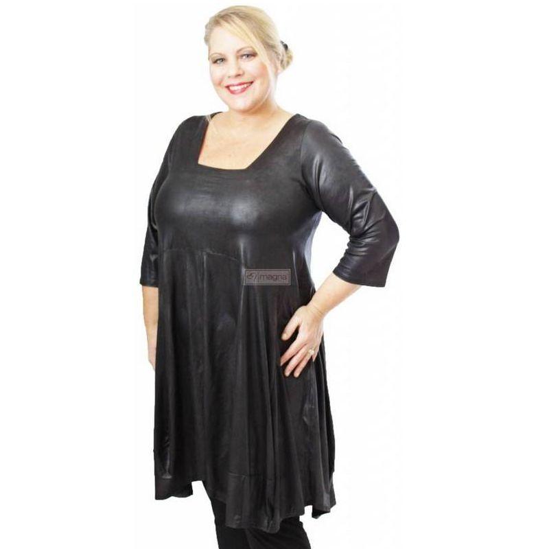 Tunic C293 LEATHER LOOK - Kay Fashion e92f5dd7f8