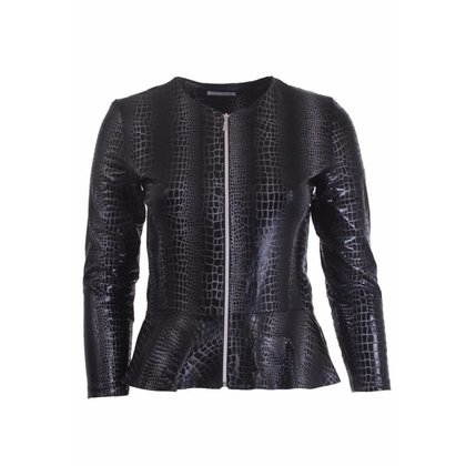 Magna Fashion Blazer K7001 LEATHER LOOK PRINT
