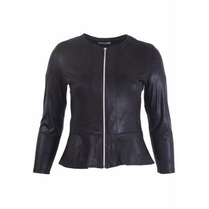 Magna Fashion Blazer K7001 LEATHER LOOK SOLID