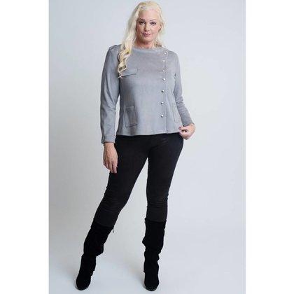 Magna Fashion Blazer K6001 SUEDELOOK SOLID