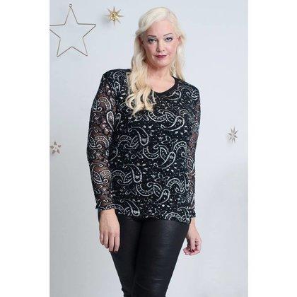 Magna Fashion Shirt B4013 LACE GLITTER
