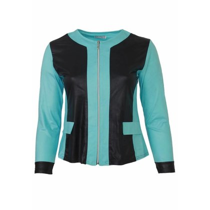 Magna Fashion Jas K31 2T LEATHER LOOK PRINT