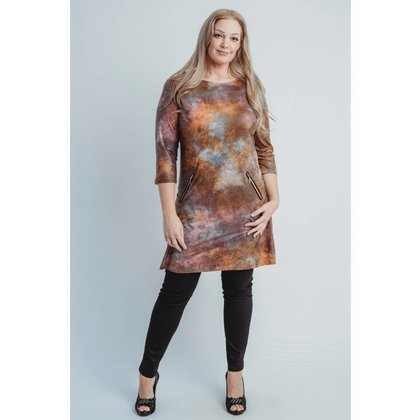 Magna Fashion Dress C6038 LEATHERLOOK PRINT