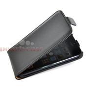 Apple Iphone 5 / 5S - Flip Case Cover Hoesje Lederlook Zwart