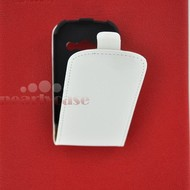 Samsung Galaxy Fame - Flip Case Cover Hoesje Lederlook Wit