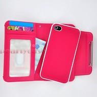 Apple iPhone 4S - Wallet / Book Case/Cover hoesje uitneembaar - Roze